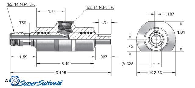 CAD Drawing Car Wash Swivel